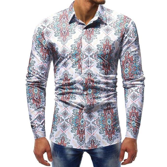 Yvelands Mens Solapel Fashion Guapa Personalidad Impreso Slim Fit Camisa Casual Camiseta Camiseta Vestido Sport Top Blusa, Liquidación: Amazon.es: Ropa y ...