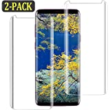[2-Pack] Galaxy S9 Screen Protector, S9 Tempered Glass Screen Protector [9H Hardness][Easy Bubble-Free Installation][Anti-Scratch] Compatible with Samsung Galaxy S9 (NOT S9 Plus) (Case Friendly)