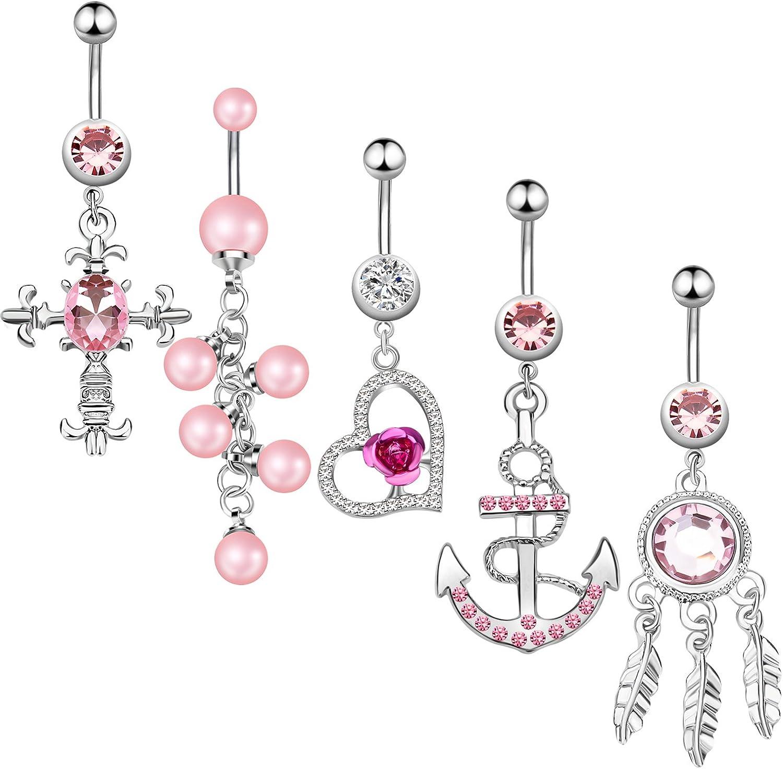14g anchor navel ring