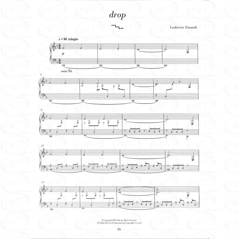 Ludovico Einaudi Elements Piano Sheet Music Book Night Drop Twice ABC Logos