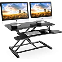 FITUEYES Height Adjustable Standing Desk 80 cm Wide Tabletop Workstation with Keyboard Tray Ergonomic Working/Study Desk…