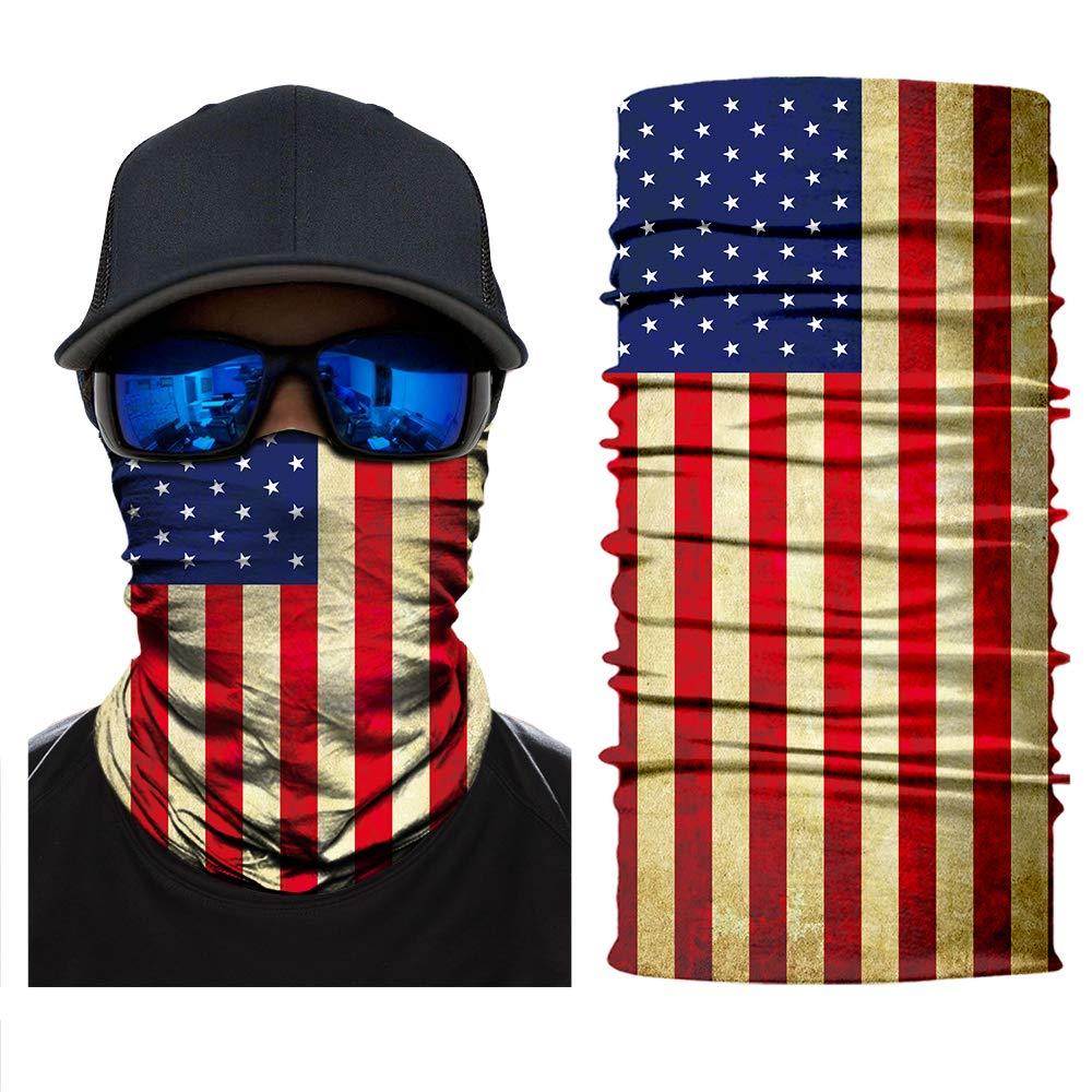 Magic Headwear Dark Colorful Outdoor Scarf Headbands Bandana Mask Neck Gaiter Head Wrap Mask Sweatband