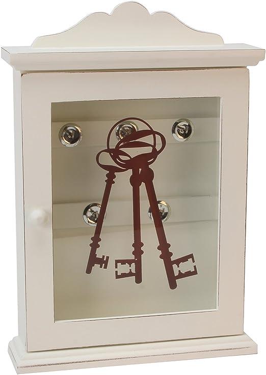 Caja de madera para llaves estilo antiguo, armario para colgar en la pared o de pie: Amazon.es: Hogar