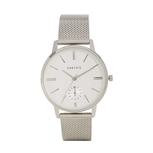 Parfois - Reloj Casual Silver Tray - Mujeres - Tallas Única - Plateado 1