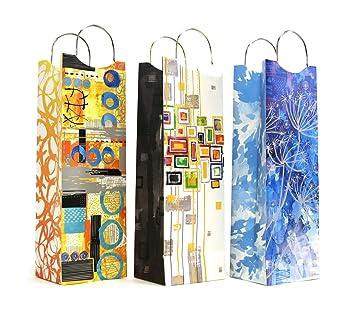 Amazon.com: 12 ct (1 docena), bolsas de regalo de vino ...