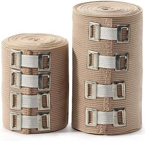 Amazon Com Premium Elastic Bandage Wrap 2 Pack 4 Extra Clips