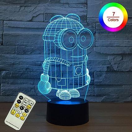KEYUAN 3D LED Lámpara De Ilusión Decoración Star Wars Luz De ...