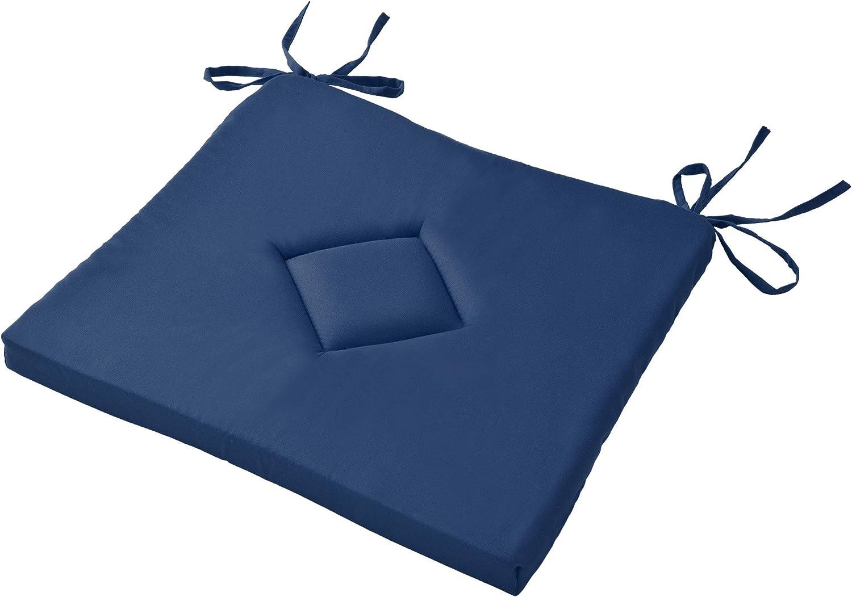 Beautissu Lot de 4 Galettes de Chaise Kim Confortable color/é Id/éal pour int/érieur ext/érieur 40x40x3cm Ecru