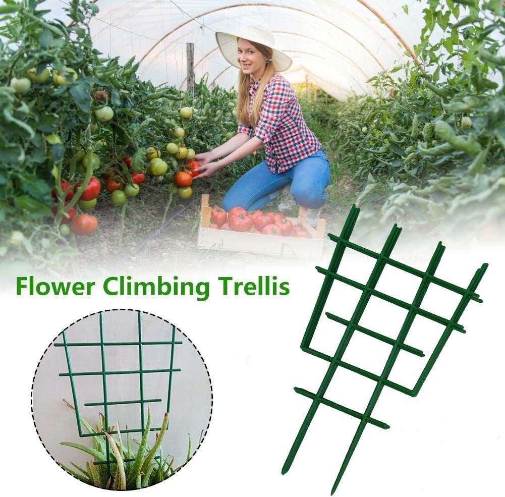 Voyoo Trellis for Climbing Plants Bamboo Pea Garden Potted Indoor-Plant Trellis Garden Plant Support Climbing Trellis Plastic Flower Supports Gardening Tools