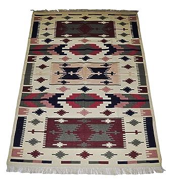 Vintage Elegant Handmade Cotton Yoga Mat Rug Carpet For Living Room 4 X 6 Feet