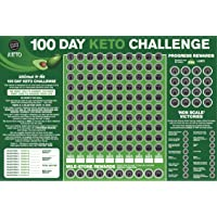 100 Day Keto Challenge Scratch Off Poster. The Perfect Planner for Keto Diet Made Easy with This Friendly Tracker Chart. Keto Accessories to Help You Lose Fat on LCHF Diets.