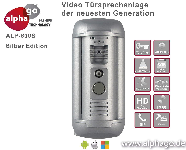 T/ür/überwachung Fritz!Fon C4//C5 kompatibel-Steuerung /über PC//Smartphone//Tablet-FTP Anbindung Gegensprechanlage ohne Cloud-Zwang IP Video T/ürsprechanlage ALP-600