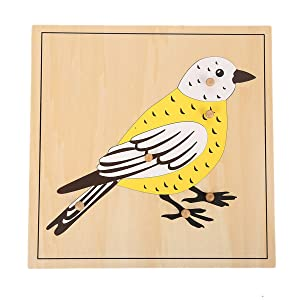 LEADER JOY Montessori Nature Materials Bird Puzzle for Early Preschool Learning Toy