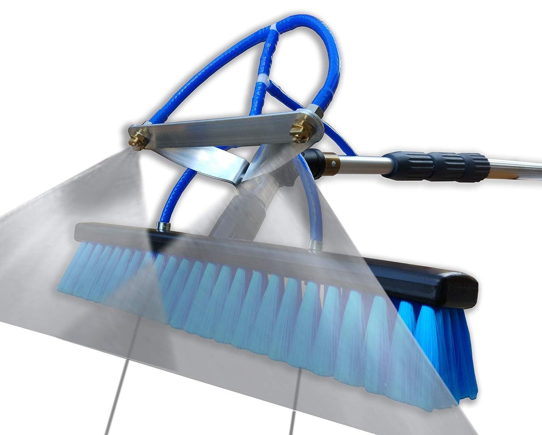 mit 40cm Bürste Photovoltaikreinigung Teleskopstange wasserführend 6m