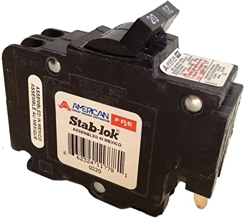 American Federal Pacific Circuit Breaker, 2-Pole 20-Amp Thin Series