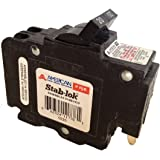 American/Federal Pacific Circuit Breaker, 2-Pole 20-Amp Thin Series