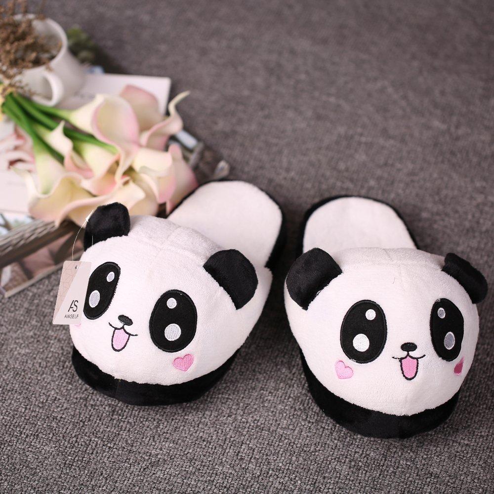 Anself Chaussons Cotons Panda en Peluche Mignon Doux pour femme Taille  Unique  Amazon.fr  Cuisine   Maison 3d09f482c445