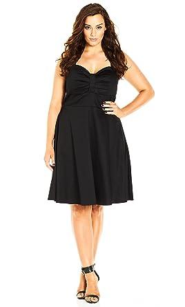 Designer Plus Size DRESS IN THE PRESENT - Black - 16 / S | City Chic ...