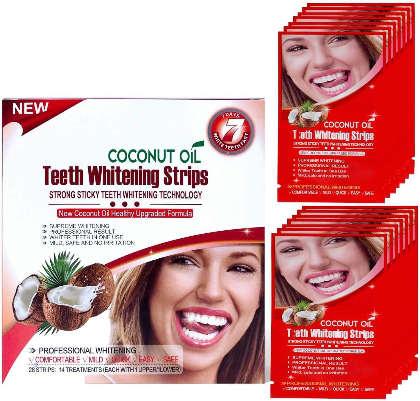 Senyum Teeth Whitening Strips 14 Treatments Dentist for Sensitive Teeth, Whitener Strips (14 for Upper 14 for Lower): Health & Personal Care