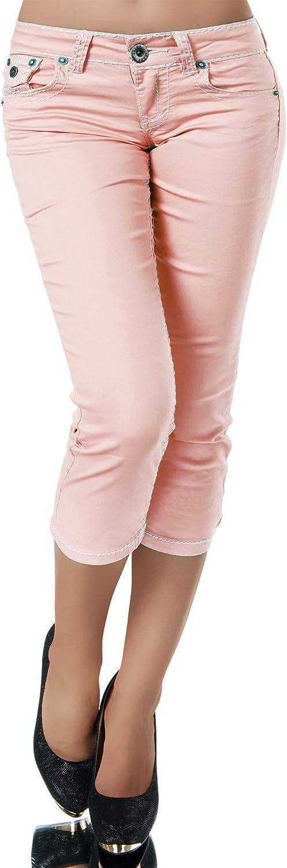 Morbuy Caprihose Sommer Bermuda Stretch Stoffhose Sommerhose Knielang Leggings Damen Capri 3//4 Hose Kurze