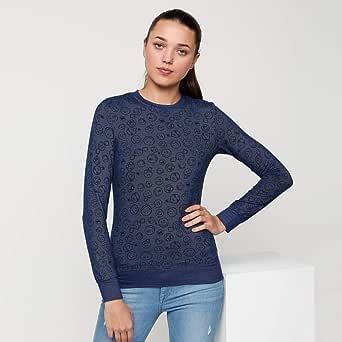 Smiley World Pullover Tops For Women, Blue 16 UK