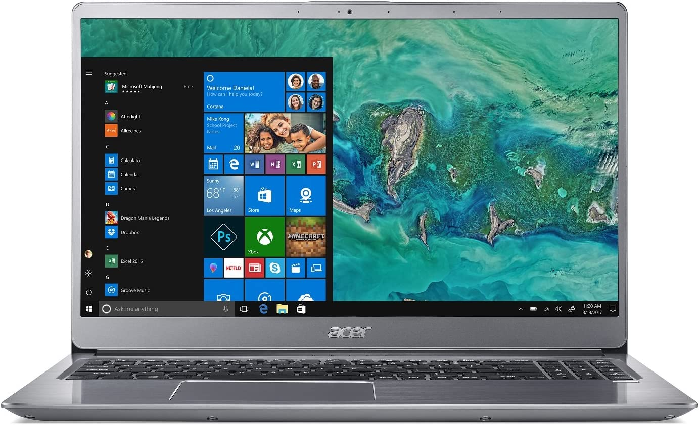 "Acer Swift 3 SF315-52G-82TV, 15.6"" Full HD, 8th Gen Intel i7-8550U, NVIDIA GeForce MX150, 8GB DDR4, 256GB SSD, Silver"