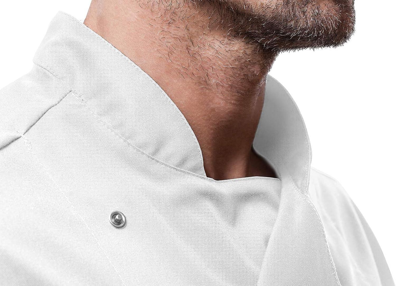Nero S-XXL Ristorante PIZZAIOLO Giacca Casacca da Cuoco Chef Bicchierino-Manicotto Fatto in UE ristorazione Pizzeria strongAnt