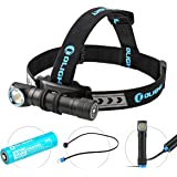 Olight® H2R Nova NW/CW 18650 LED Torch 2300LM Rechargeable Versatile Illumination Tool EDC Handheld Flashlight or Head Torch headlamp with CREE XHP50 LED Max 2300 Lumens for Outdoor