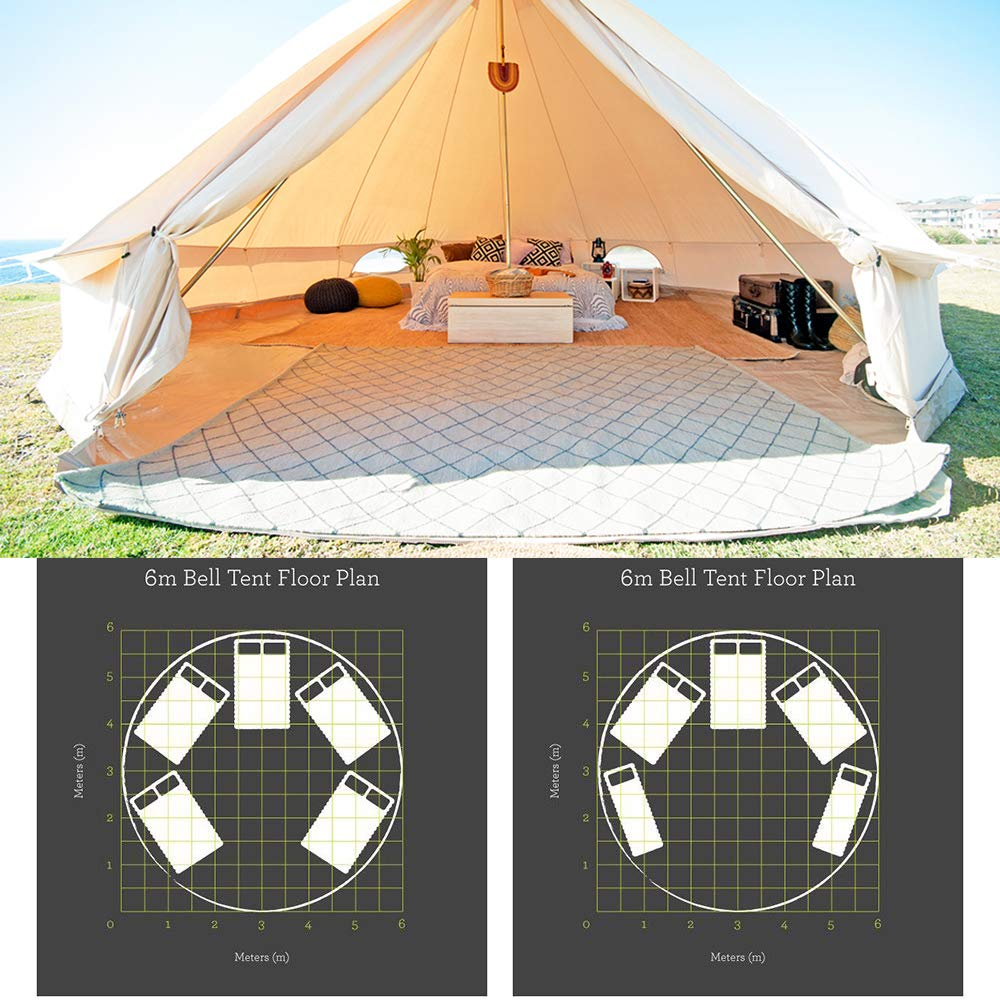 Amazon.com  PlayDo 6M Waterproofing Large Cotton Canvas Bell Tent C&ing Yurts Tent Hunting Wall Tent with Top Stove Hole for 10 More Person  Sports u0026 ...  sc 1 st  Amazon.com & Amazon.com : PlayDo 6M Waterproofing Large Cotton Canvas Bell Tent ...