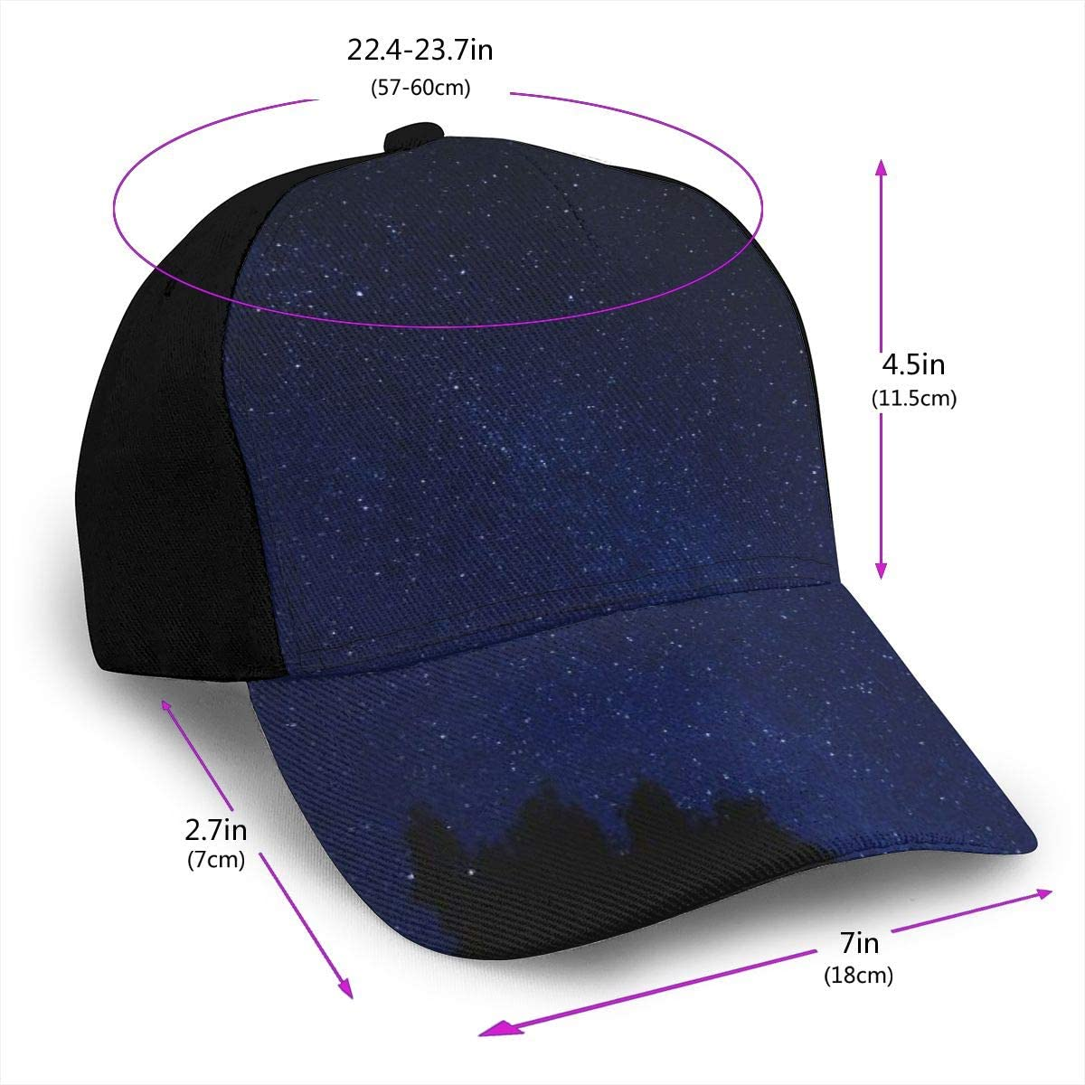 Blue Clear Sky During Nighttime Classic Baseball Cap Men Women Dad Hat Twill Adjustable Size