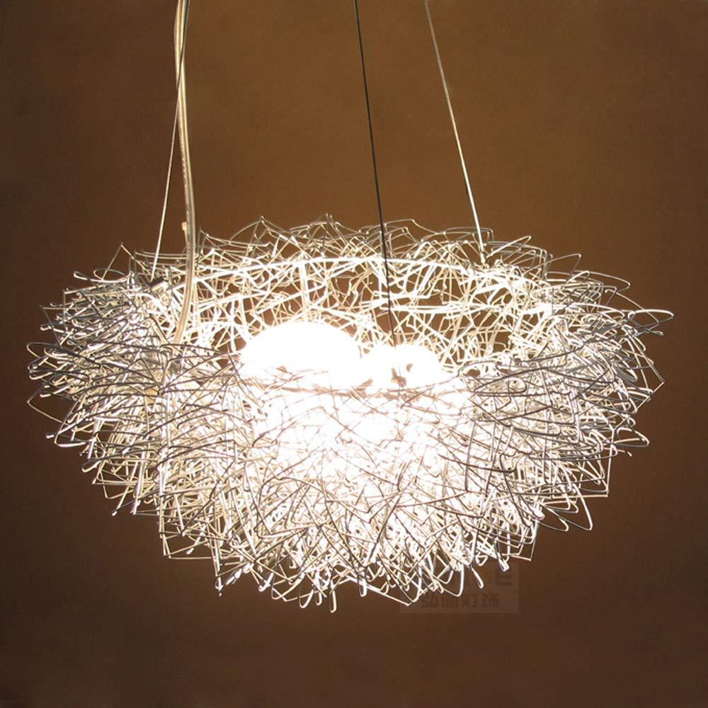 ファッションのアイデア新しいパーソナライズされたアルミ40センチメートル5 G4ワイヤの鳥の巣ペンダントライトランプ照明器具ベッドロンダイニングルームギフトWL6011638PY B07J5WTLGS