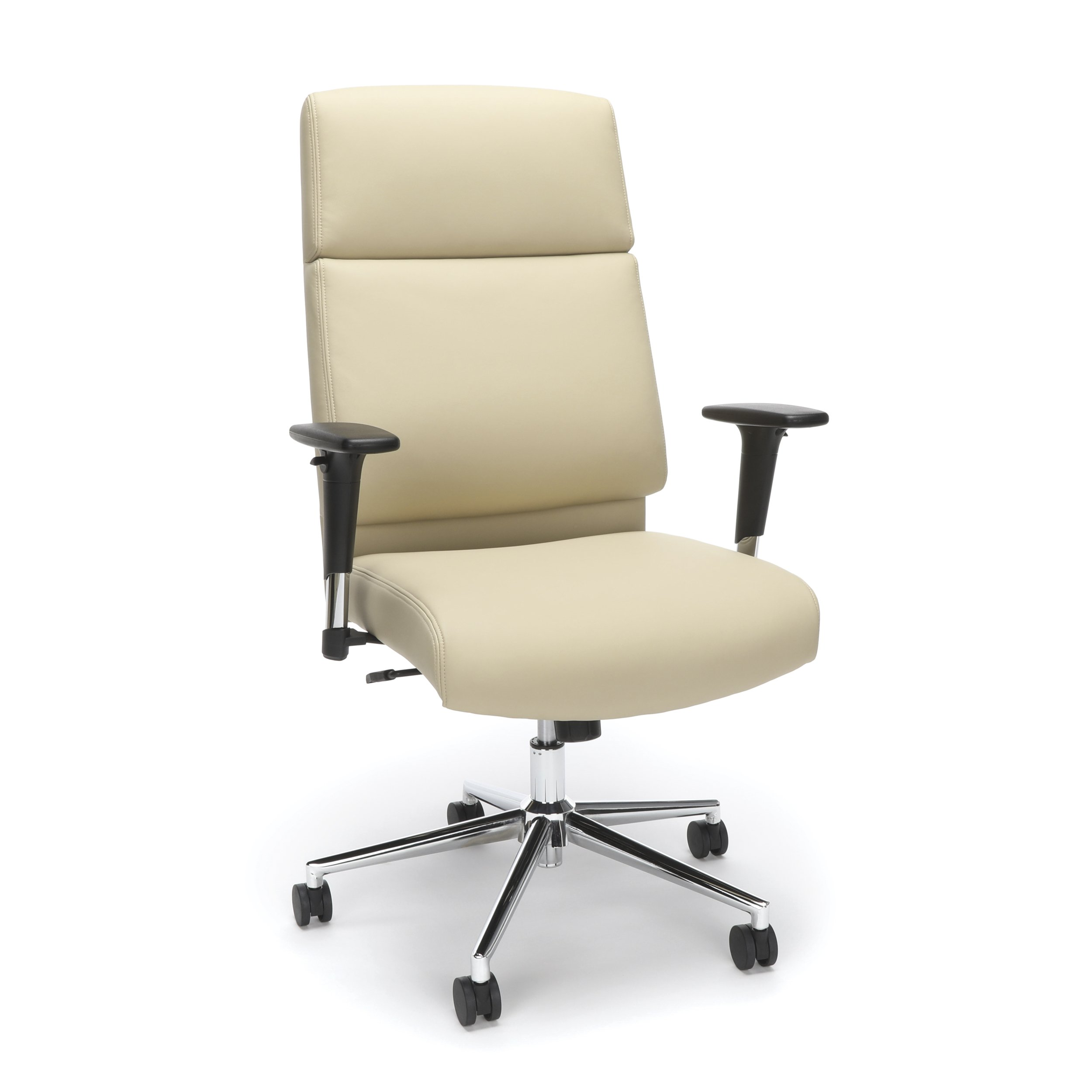 Bonded Leather Manager Chair, High Back Office Chair for Computer Desk - Cream (568-CRM) by OFM