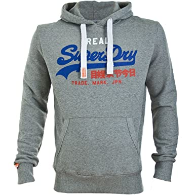 Superdry Vintage Logo Tri Entry Hoodie Grit Grey Marl Jaspe