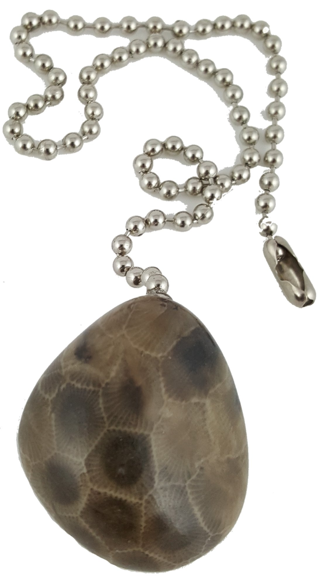 Petoskey Stone Decorative chain pull for fans and lights | Made in Michigan