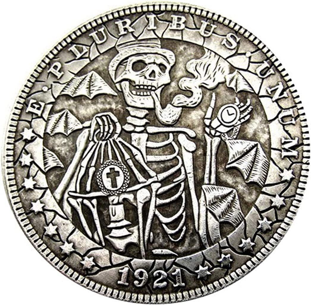 1921 Sword Skull Zombie Skeleton Hobo Morgan Dollar Coin For US Collectors