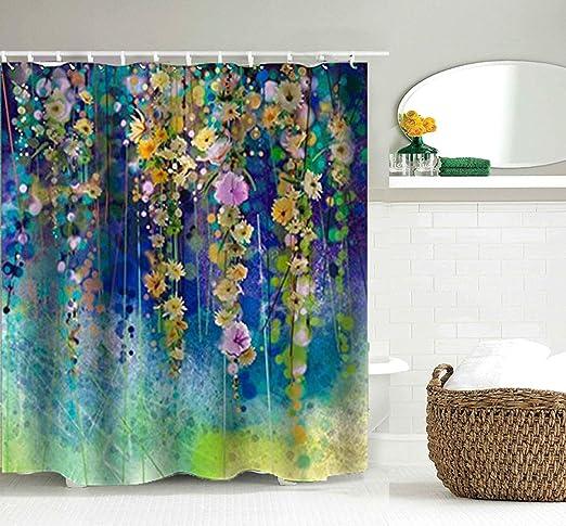 Beautiful Great Wisteria Flower Arch Bath Waterproof Fabric Shower Curtain Liner