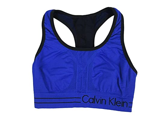 ffa3e9834ca Calvin klein Performance Reversible Racerback Sports Bra in Blue