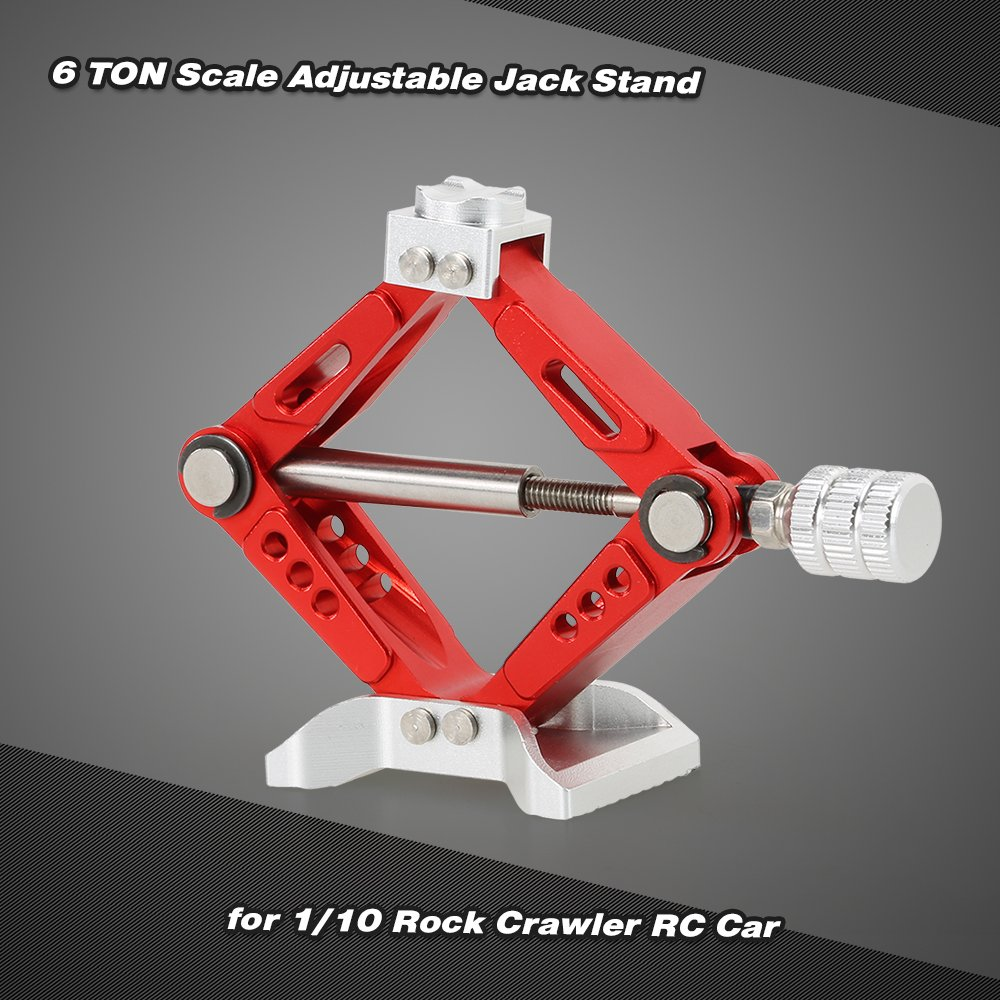 Goolsky 6 TON Aluminum Alloy Scale Adjustable Jack Stand for 1/10 RC4WD D90 SCX10 Rock Crawler RC Car by Goolsky (Image #7)