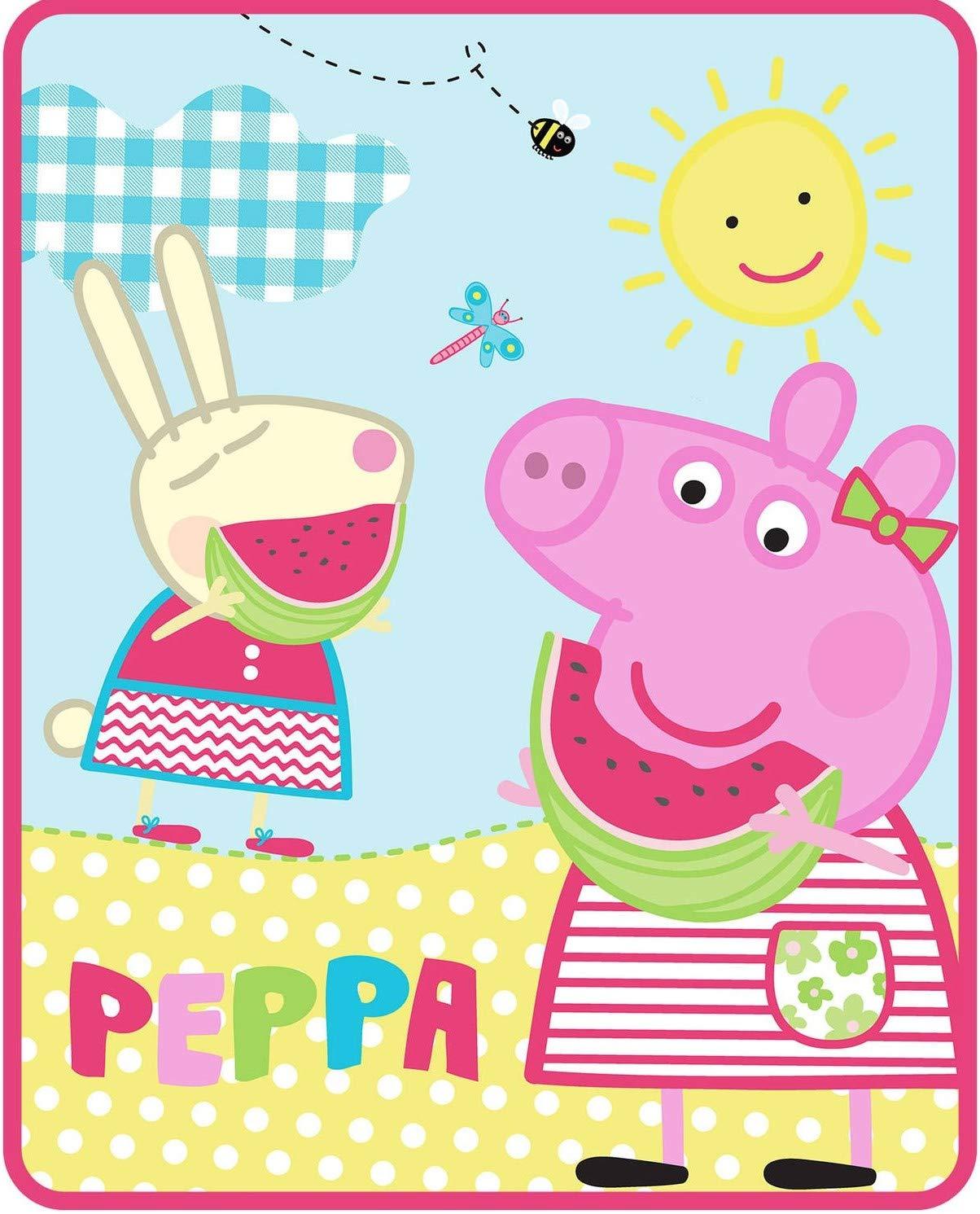 Astley Baker Davies Peppa Pig Silky Soft Throw Blanket - 40 in. x 50 in.,Multi by Franco