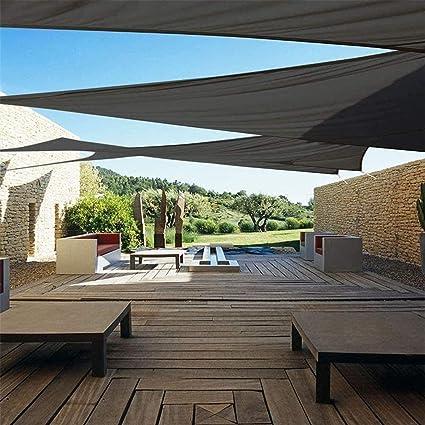 Terraza Exterior Parasol, Jardín, Terraza Y Cobertizo Triangular Impermeable a Prueba De Sol Para Acampar, 95% Toldo Ultravioleta, 10 Colores,gray- 3.5x3.5x3.5m: Amazon.es: Hogar