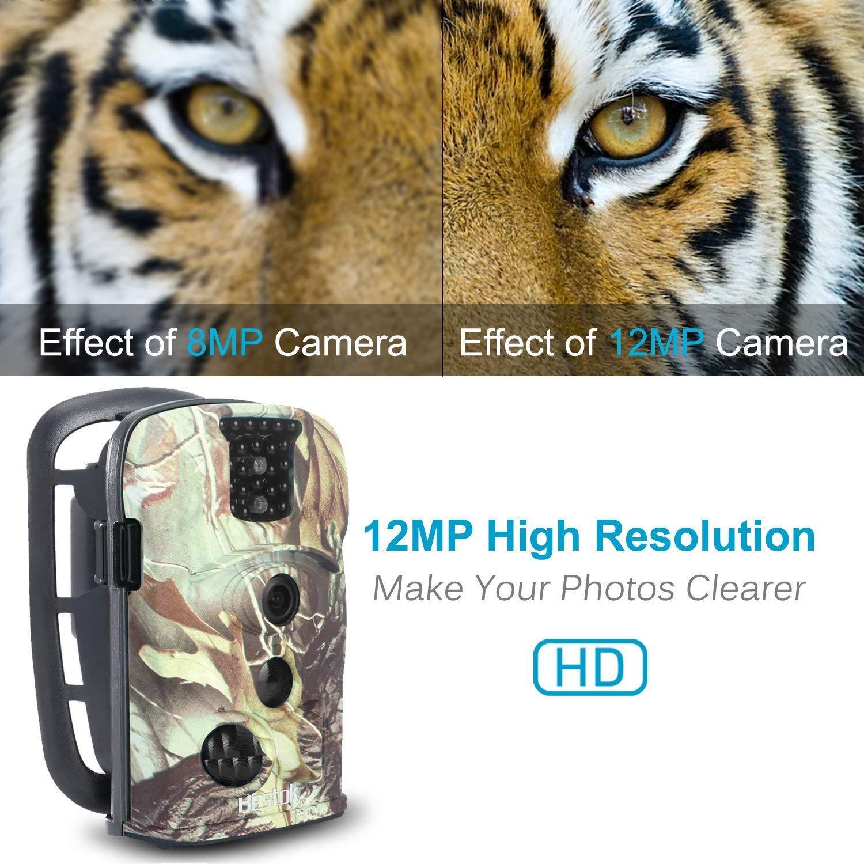 Bestok Cámara de Caza 12MP 1080P Cámara de Vigilancia Trail Cámara (Verde Claro): Amazon.es: Deportes y aire libre