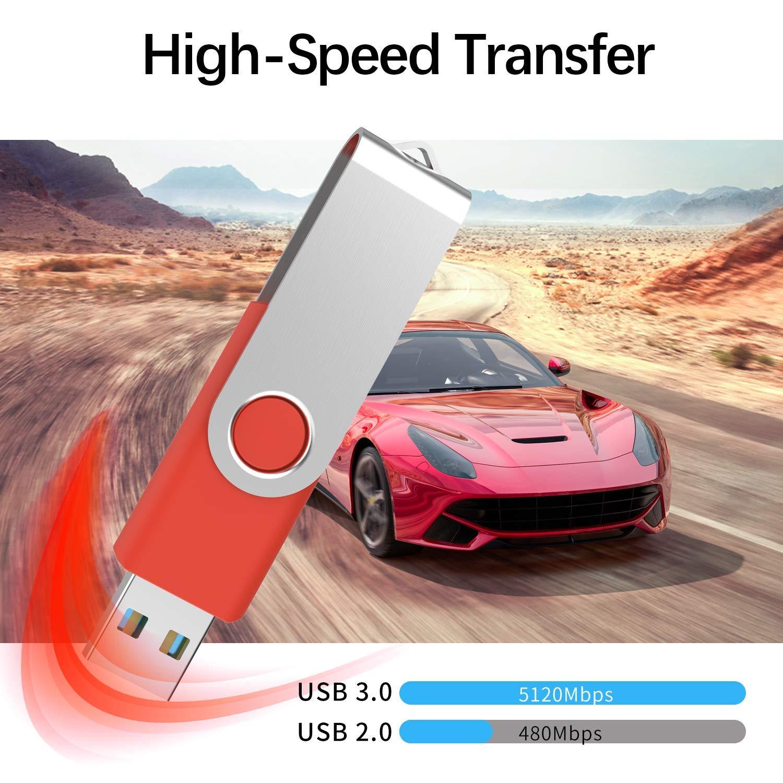 Argent RAOYI Cl/é USB 64 Go 2.0 en M/étal /Étanche Clef USB 64Go Disque U Flash Drive PenDrive pour Windows Mac OS PC Ordinateur de Bureau Cadeau pour Photographe Support de T/él/éphone Portable