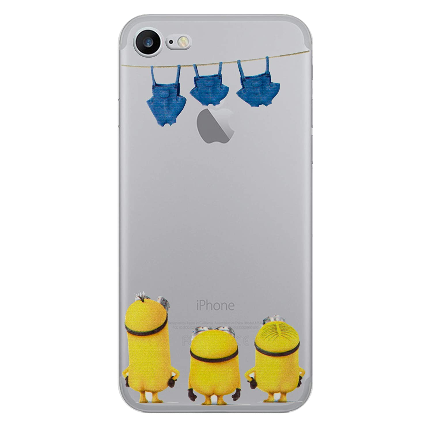 competitive price 7a946 8d32a iPhone 5/5s Minions Cartoon Silicone Phone Case / Gel Cover for Apple  iPhone 5s 5 SE / Screen Protector & Cloth / iCHOOSE / Washing