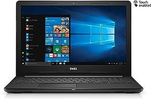 """Dell 2018 Inspiron 15 15.6"""" HD Touchscreen Laptop Computer, AMD A6-9200 up to 2.8GHz, 8GB DDR4 RAM, 256GB SSD + 1TB HDD, 802.11ac WiFi, Bluetooth 4.1, HDMI, USB 3.1, MaxxAudio, Windows 10"""