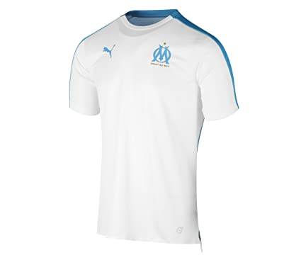 Puma Olympique de Marseille Graphic Jersey with Sponsor Logo Maillot Homme