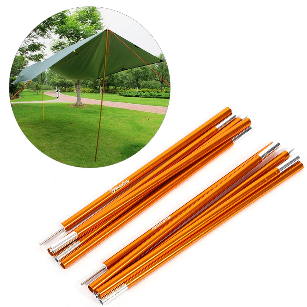 Outdoor Tent Pole Rod,2 PCS Aluminium Alloy Tent Bar Rod Pole Tent Accessories Tent Building Supporting Rod Pole Awning Frames Kit For Hiking Camping (6mm2000mm(STYLE②)) by Yosoo