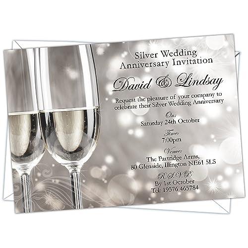 wedding anniversary party invites amazon co uk