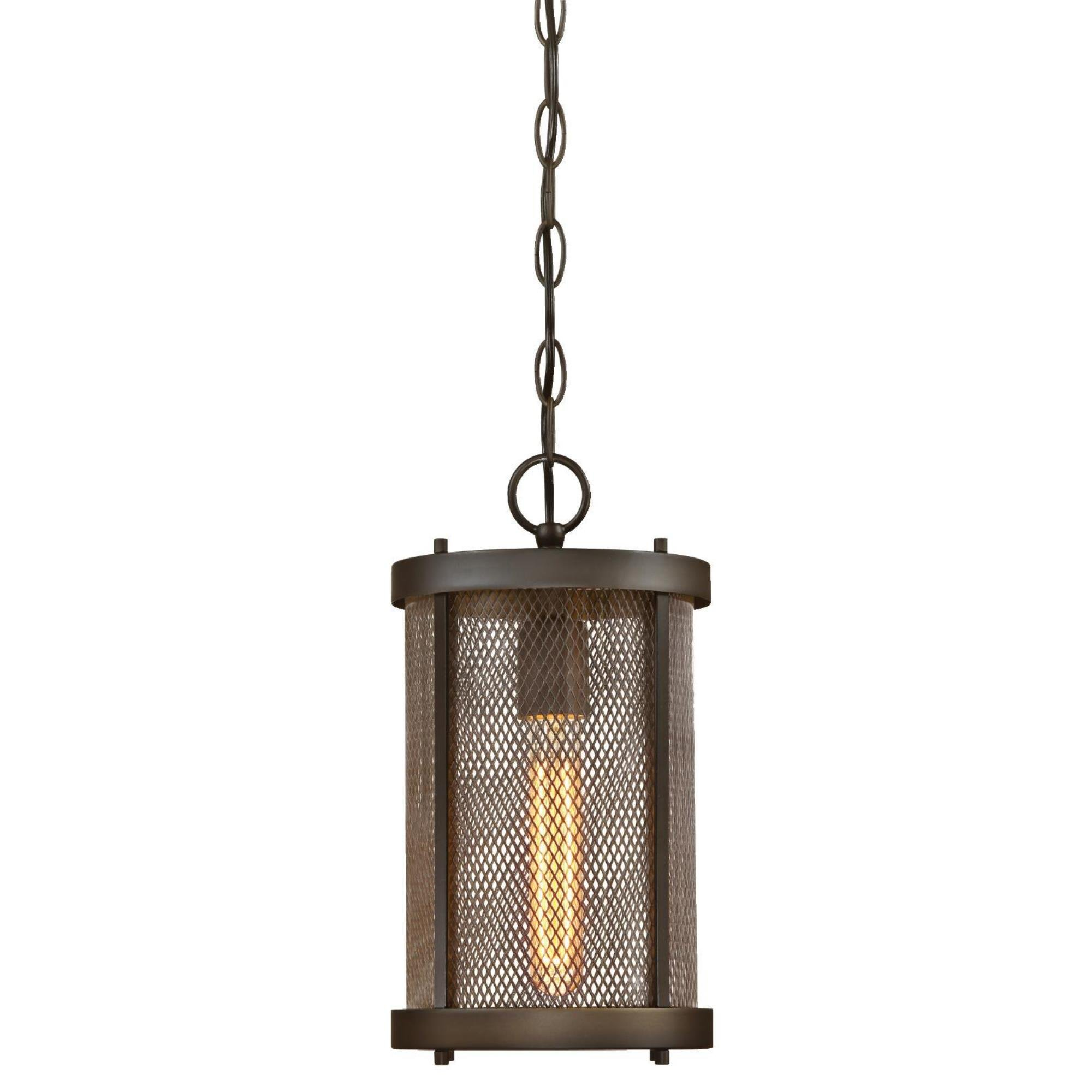 Westinghouse 6318200 Skyview One-Light Outdoor Pendant with Mesh and Clear Glass, Oil Rubbed Bronze