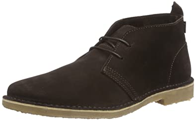 cd7a1d1f24308c JACK   JONES JJGOBI Desert Boot Suede Brown Stone