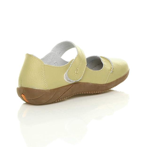 b01a7d3b038b6f Ajvani complète pour Femme Cuir Confort Velcro Marche décontracté Sandales  Chaussures Taille: Amazon.fr: Chaussures et Sacs